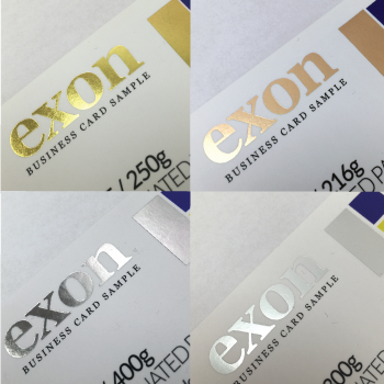 EXON-PRINT-GOLD SILVER FOIL SPECIAL BUSINESS CARD