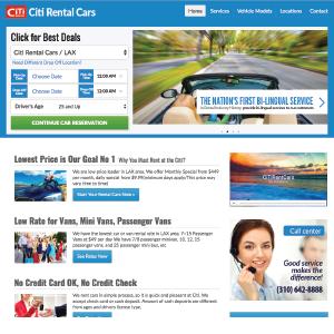 website-citi rental cars